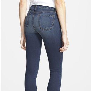 J Brand Rail Venture Dark Wash Skinny Jeans